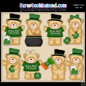 Cuddly Bears Irish ClipArt Graphic Collection
