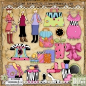 Trendy Girl 2 ClipArt Graphic Collection