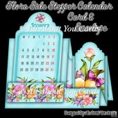 Flora Side Stepper Calendar Card & Envelope
