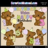 Tibbles Birthday Numbers ClipArt Collection