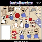 Cat's and Dog's ClipArt Graphic Collection
