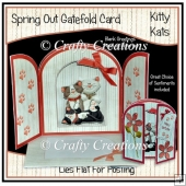 Spring Out Gatefold Card - Kitty Kats