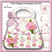 Pink Poppies Handbag Card Kit