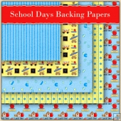 5 School Days Backing Papers Download (C89)