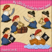 My Little Boy Pirates ClipArt Graphic Collection