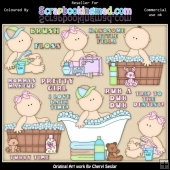 RESALE ART WORK Little Peanuts Rub A Dub Dub ClipArt Collection
