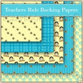 5 Teachers Girl Rule Backing Papers Download (C145)