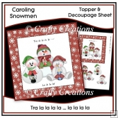 Tra La La - Topper & Decoupage Sheet
