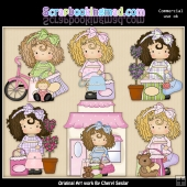 Evie Shopaholic ClipArt Graphic Collection