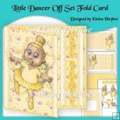 Little Dancer Asymmetric Fold Card
