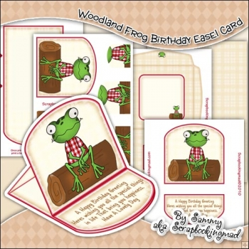Woodland Frog Birthday Easel Card Download