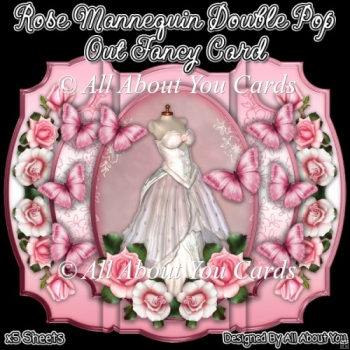 Rose Mannequin Double Pop Out Fancy Card