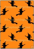 Backing Papers Single - Orange Witches - REF_BP_107