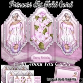 Princess Tri Fold Card