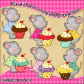 Max And Maude Love Cupcakes ClipArt Graphic Collection
