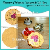 Tapestry Christmas Octagonal Gift Box