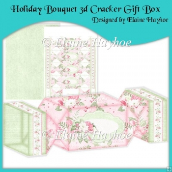 Holiday Bouquet 3d Cracker Gift Box
