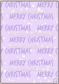 Backing Papers Single - Lilac Merry Christmas - REF_BP_6