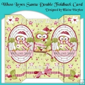 Whoo Loves Santa Double Foldback Card