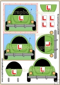 Good Luck Learner Driver PDF Decoupage Download
