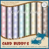 Eight 12x12 Splodgy Pastel Background Papers