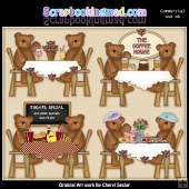 Bears Day Out ClipArt Graphic Collection