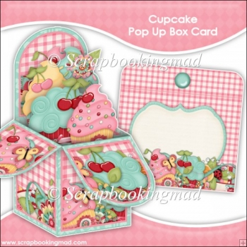Cupcake Pop Up Box Card