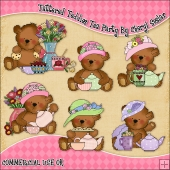 Tattered Teddies Tea Party ClipArt Graphic Collection