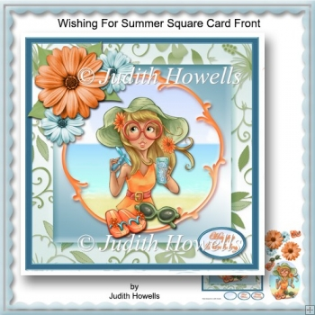 Wishing For Summer Square Card Front