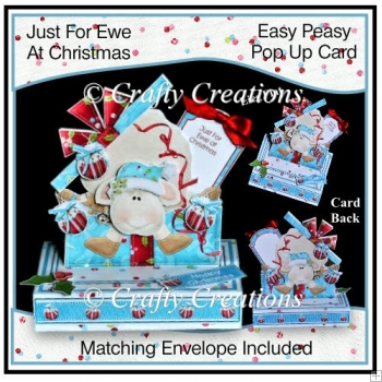 Easy Peasy Pop Up Card - Just for Ewe at Christmas