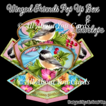 Winged Friends Pop Up Box Card & Envelope