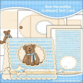 Bear Necessities 2 Scalloped Tent Card