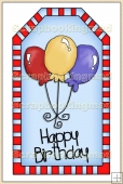 Blue Birthday Tag - REF_T223