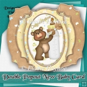 Double Pop Out New Baby Card