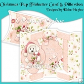 Christmas Pup Tri Shutter Card and Pillowbox