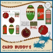 Six Red & Green Christmas Tags – CU/PU