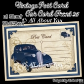 Vintage Post Card Car Card Front 26