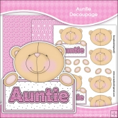 Cute Auntie Bear Decoupage Download
