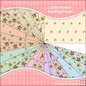 21 Daisy Flowers Backing Paper Download