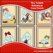 6 Tiny Tweets Barbeque Card Fronts