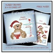 Huggy Bears 8 x 8 Card Kit - Free Hugs