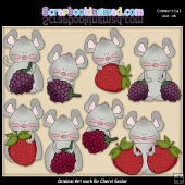 Berry Nice Mice ClipArt Collection