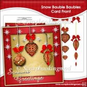 Snow Bauble Baubles Card Front