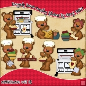 Raggedy Bears Country Kitchen ClipArt Graphic Collection