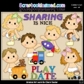 Butterball Babies Play Date ClipArt Collection