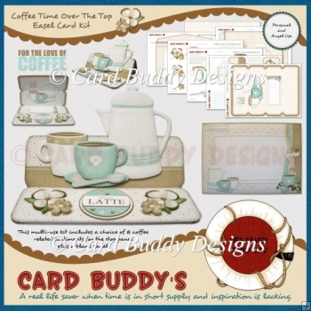 Coffee Time Over The Top Easel Card Kit
