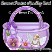 Summer Pansies Handbag Card