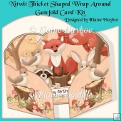 Nitwit Thicket Shaped Wrap Around Gatefold Card Kit