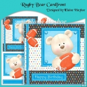 Rugby Bear Birthday Cardfront