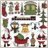 Santa Shoppe ClipArt Graphic Collection